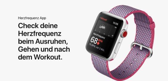 watchOS 4 mit Herzfrequenzmessung