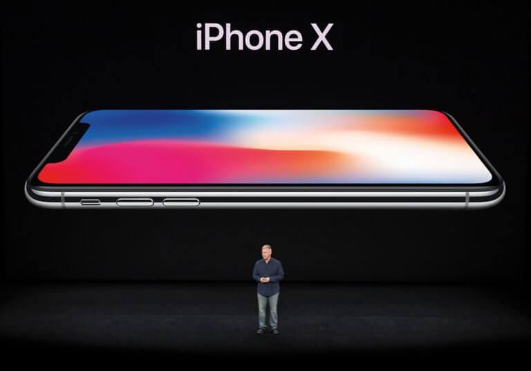 iPhone X und Phil Schiller
