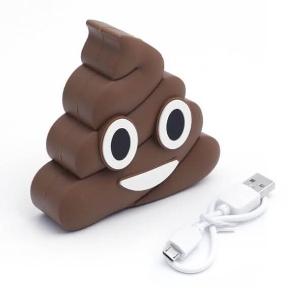 Kackhäufchen Emoji Powerbank
