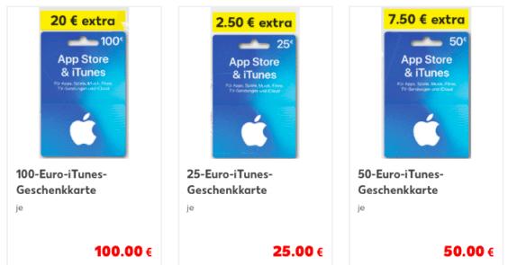Kaufland iTunes Karten Aktion