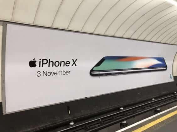 iPhone X Werbeplakat London | MacRumors