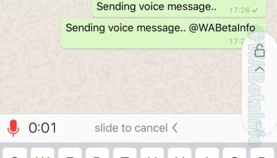 WhatsApp Beta - Sprachaufnahme feststellen - WA Info