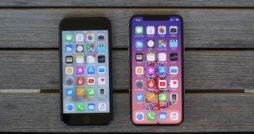 iPhone X neben iPhone 7, von vorne