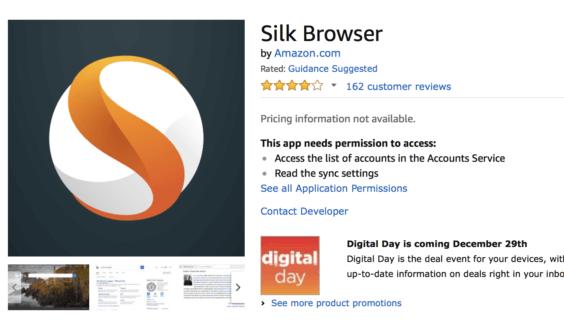 Amazon Silk   Screenshot Amazon