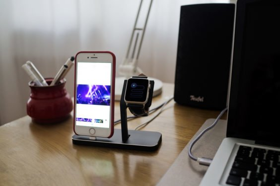 StilGut iPhone und Apple Watch Docking Station