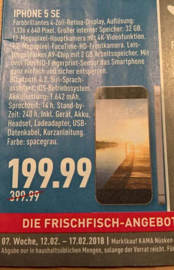 Apple iPhone SE Angebot
