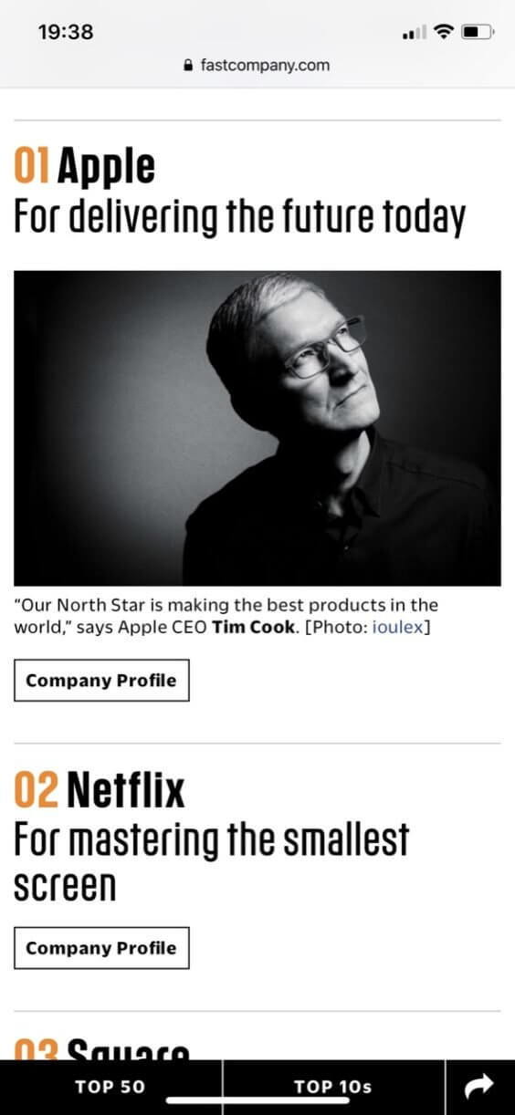 Innovativste Firmen der Welt - Fast Company
