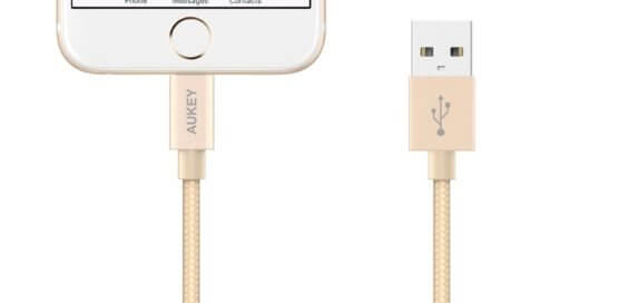 Aukey mfi lightning kabel mit iphone - gold