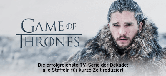 iTunes Game of Thrones Aktion April 2018