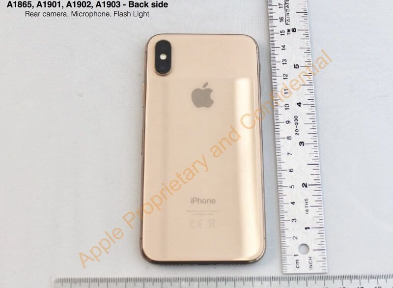 iPhone X in Gold, Bild: FCC/Apple