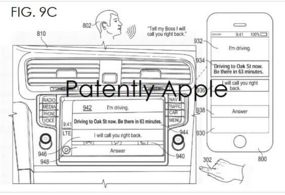 Siri im Beim Fahren nicht Stören-Modus Patently Apple
