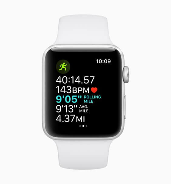 watchOS 5 Running - WWDC 2018 - Screenshot
