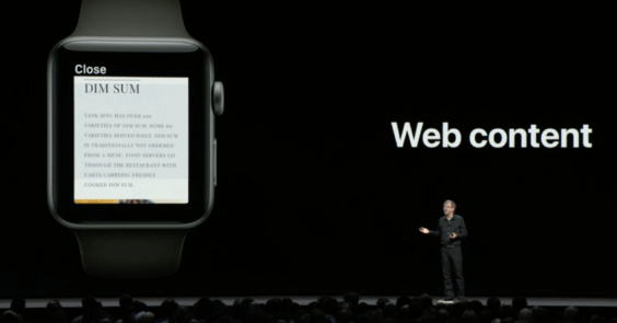 watchOS 5 Web-Content - WWDC 2018 - Screenshot