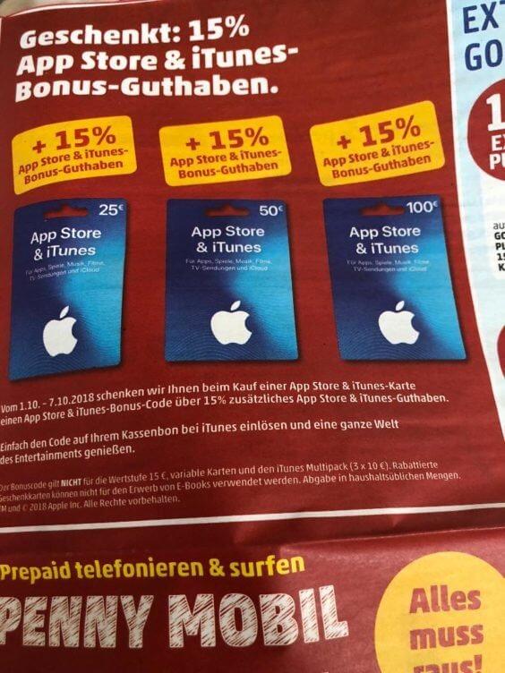 iTunes Karten penny kw40 thumb