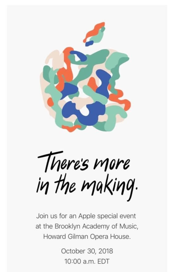 Apple-Oktober-Event-Einladung