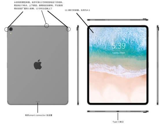 iPad Pro 2018 Rendering - Slashleaks