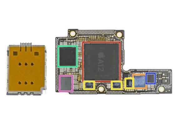 Platine des iPhone Xs mit A12 Bionic - iFixit