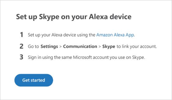 Skype mit Alexa verbinden - Skype