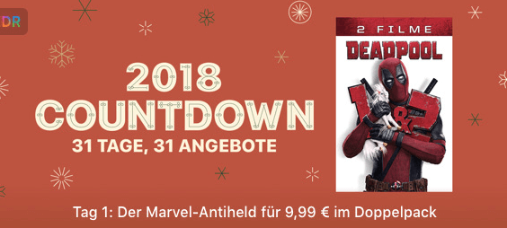 iTUnes 2018 Countdown - Tag 1 Deadpool Thumb