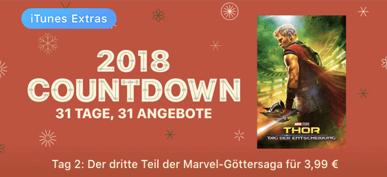 iTunes 2018 Countdown - Tag 2 Thor Thumb