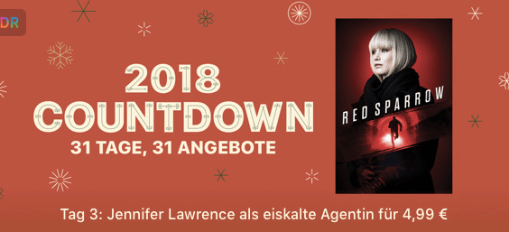 iTunes 2018 Countdown - Tag 3 Red Sparrow Thumb