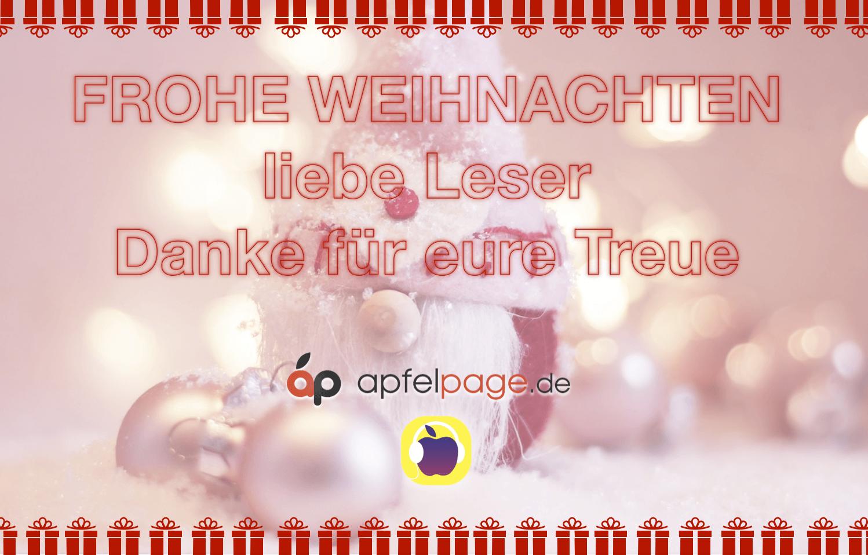 Frohe Weihnachten Liebe.Apfelpage Frohe Weihnachten Liebe Apfelpage Leser Danke