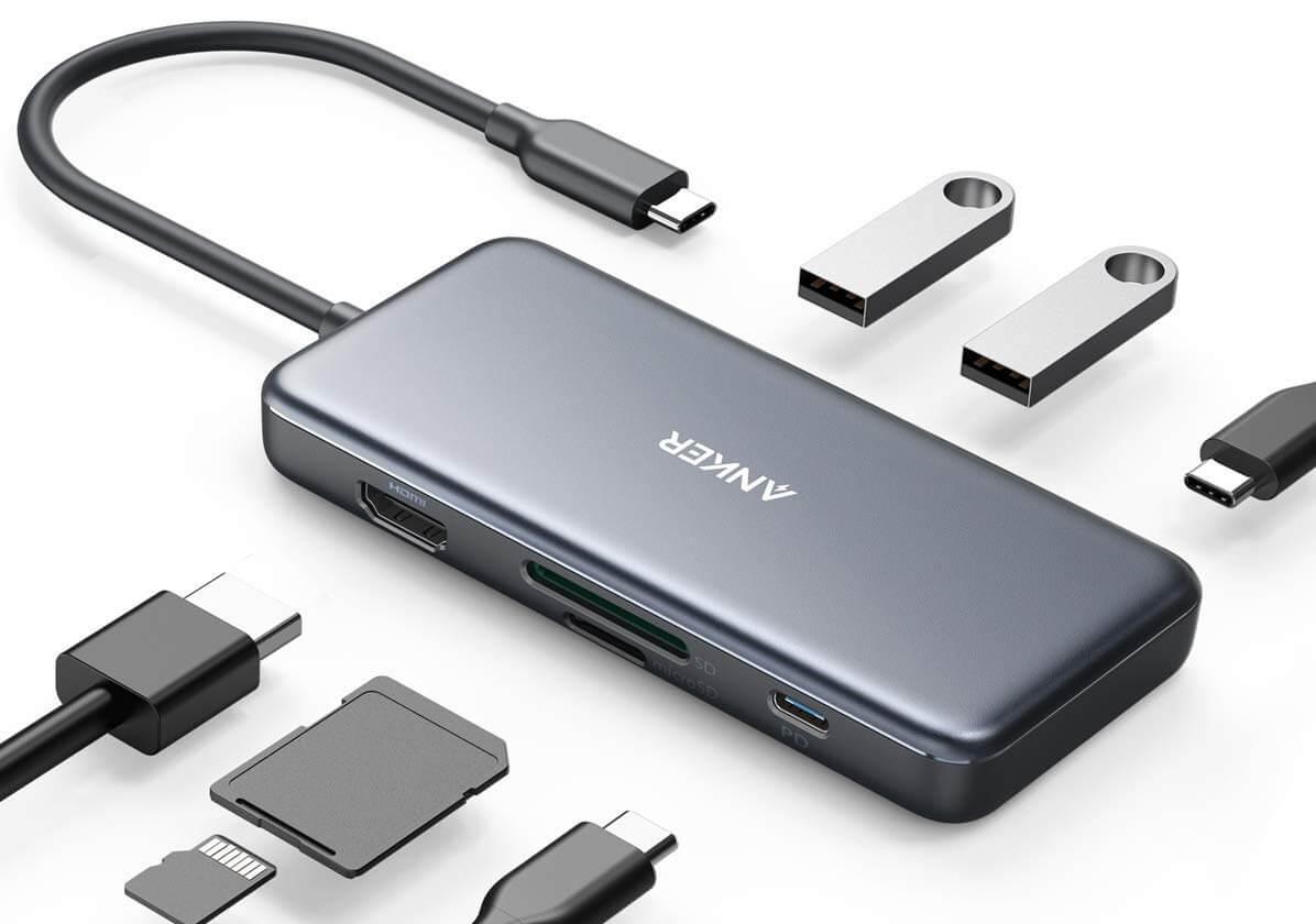 Deal: 30% Rabatt auf Anker 7-in-1 USB-C Hub für MacBooks