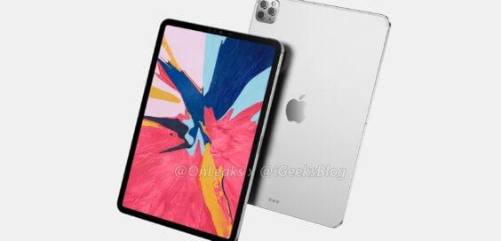 iPad Pro Rendering mit Triple-Cam - Onleaks