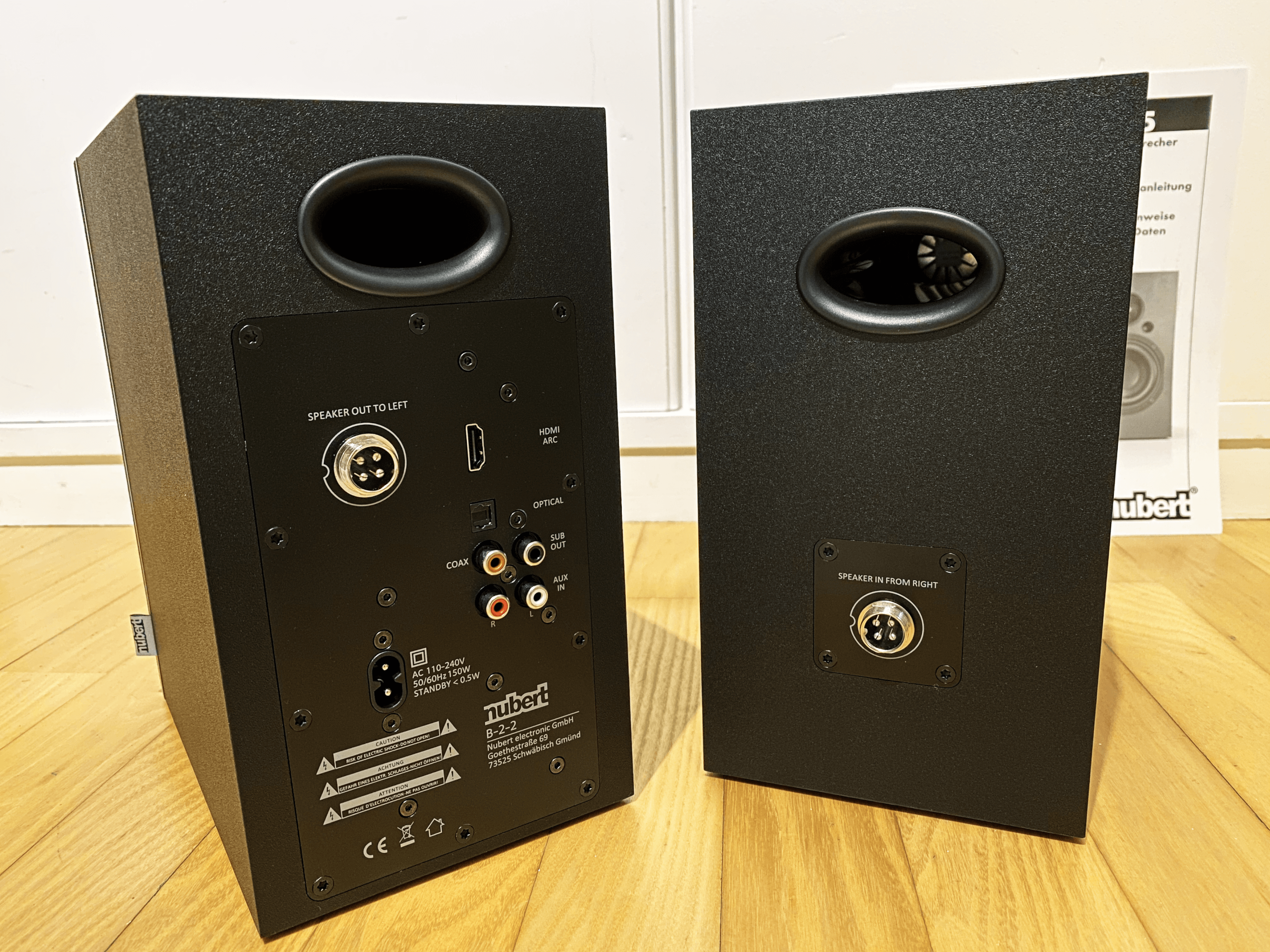 Die Rückseiten der Lautsprecher