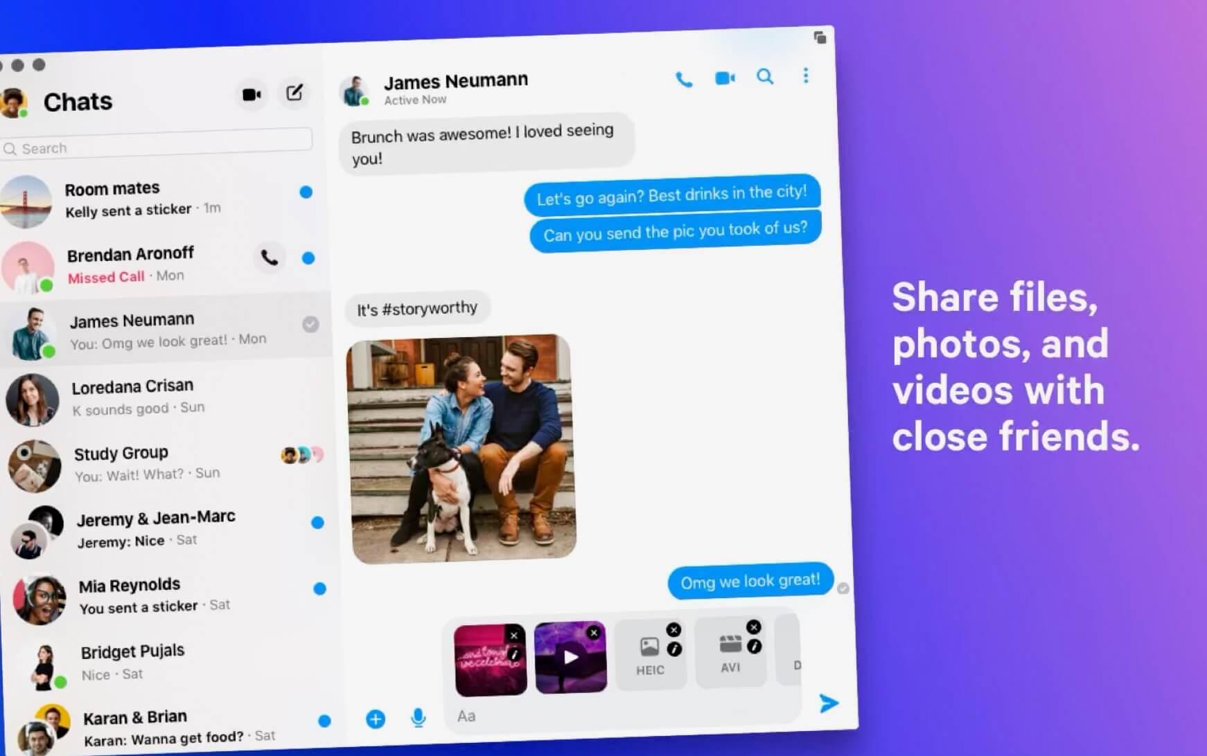 Facebook Messenger am Mac - Facebook