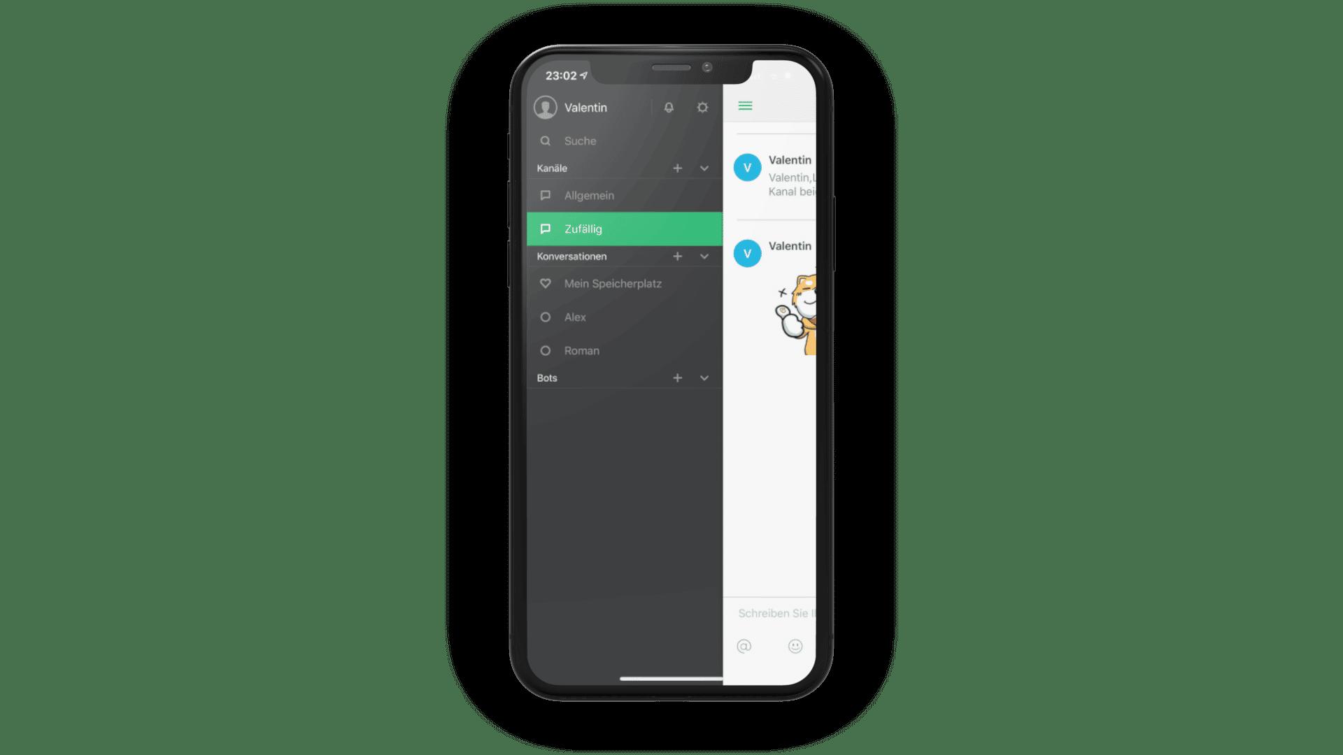 Die Mobile App ist gerade bei Synology Chat sehr vorteilhaft