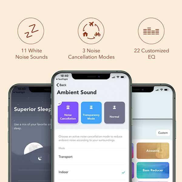 Mit der Soundcore-App können weitere Einstellungen vorgenommen werden.