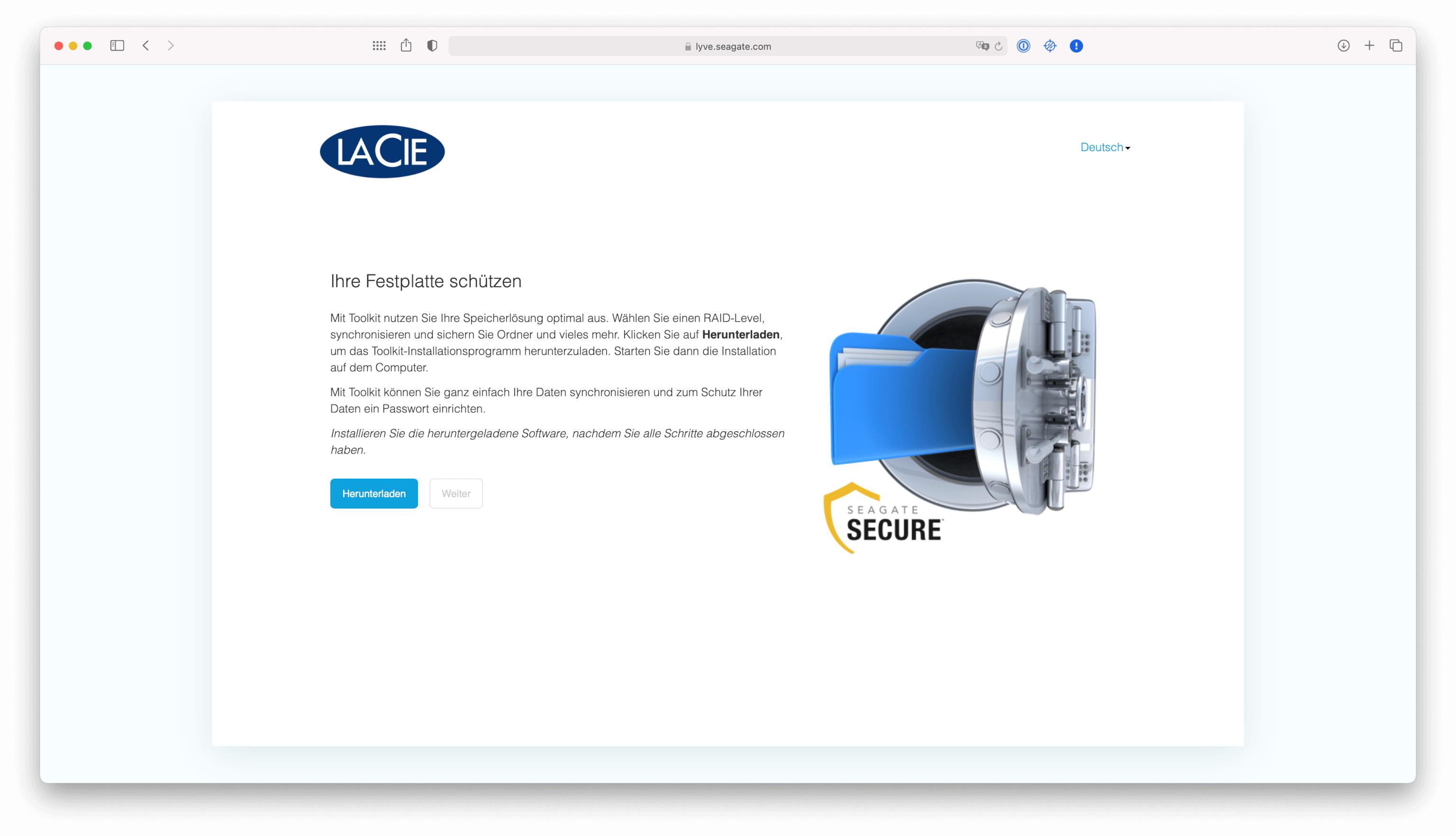 Nutzen lässt sich Seagate Secure auf den neuen M1-Mac noch nicht.