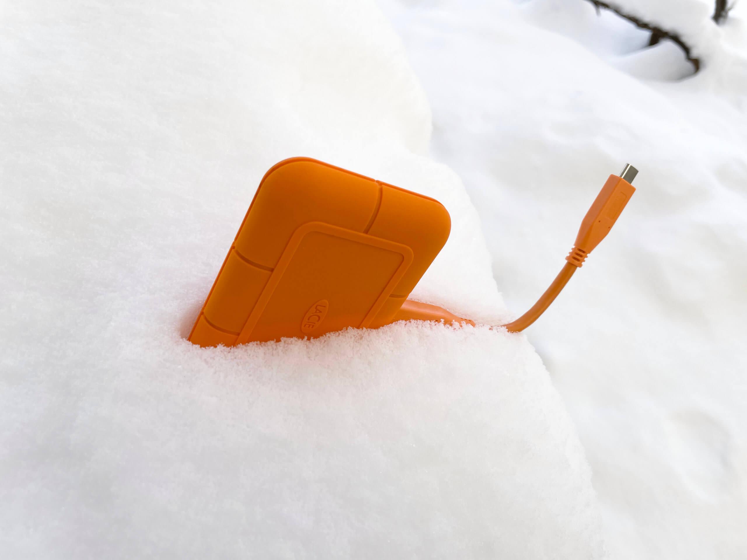 Den weltbekannten Allgäuer Schnee-Test hat die SSD erstklassig gemeistert.