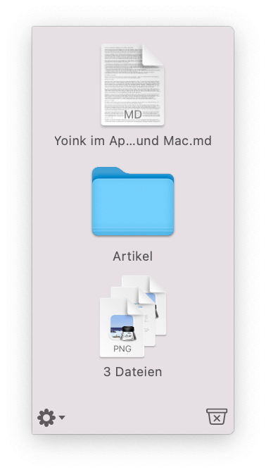 Yoink Mac Ablage