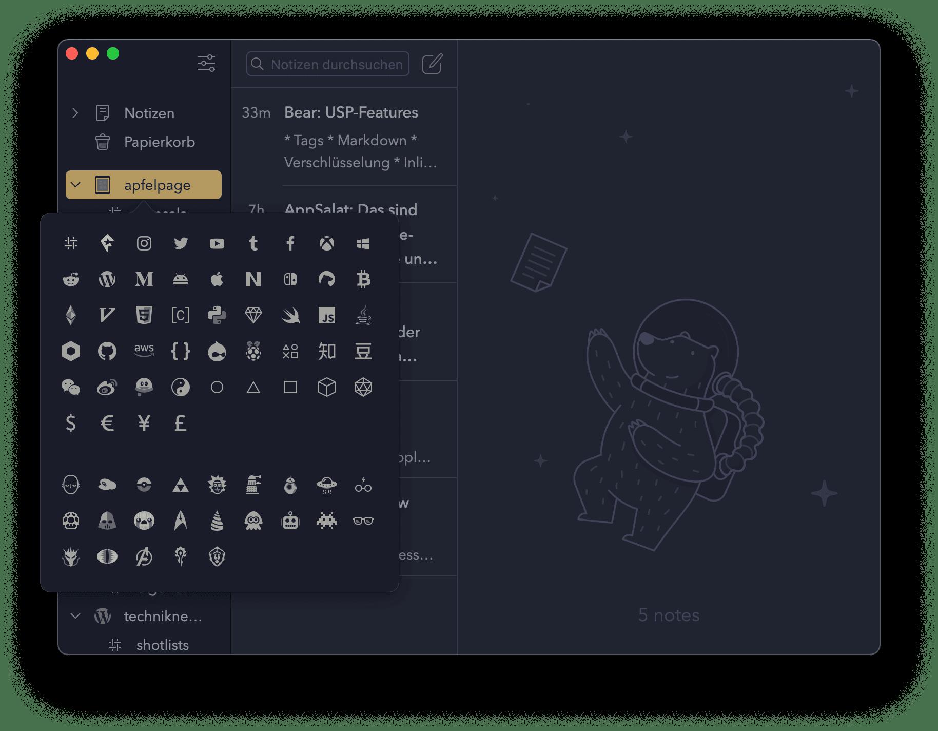 Bear Tag Symbole