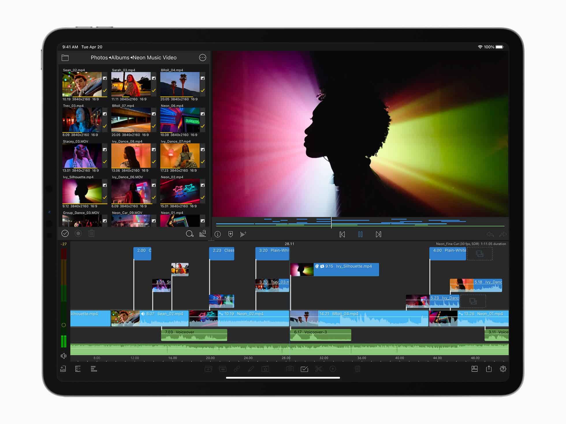 Apple zeigt, dass das neue iPad Pro enormem Workload gewappnet ist - zumindest Hardware-seitig.
