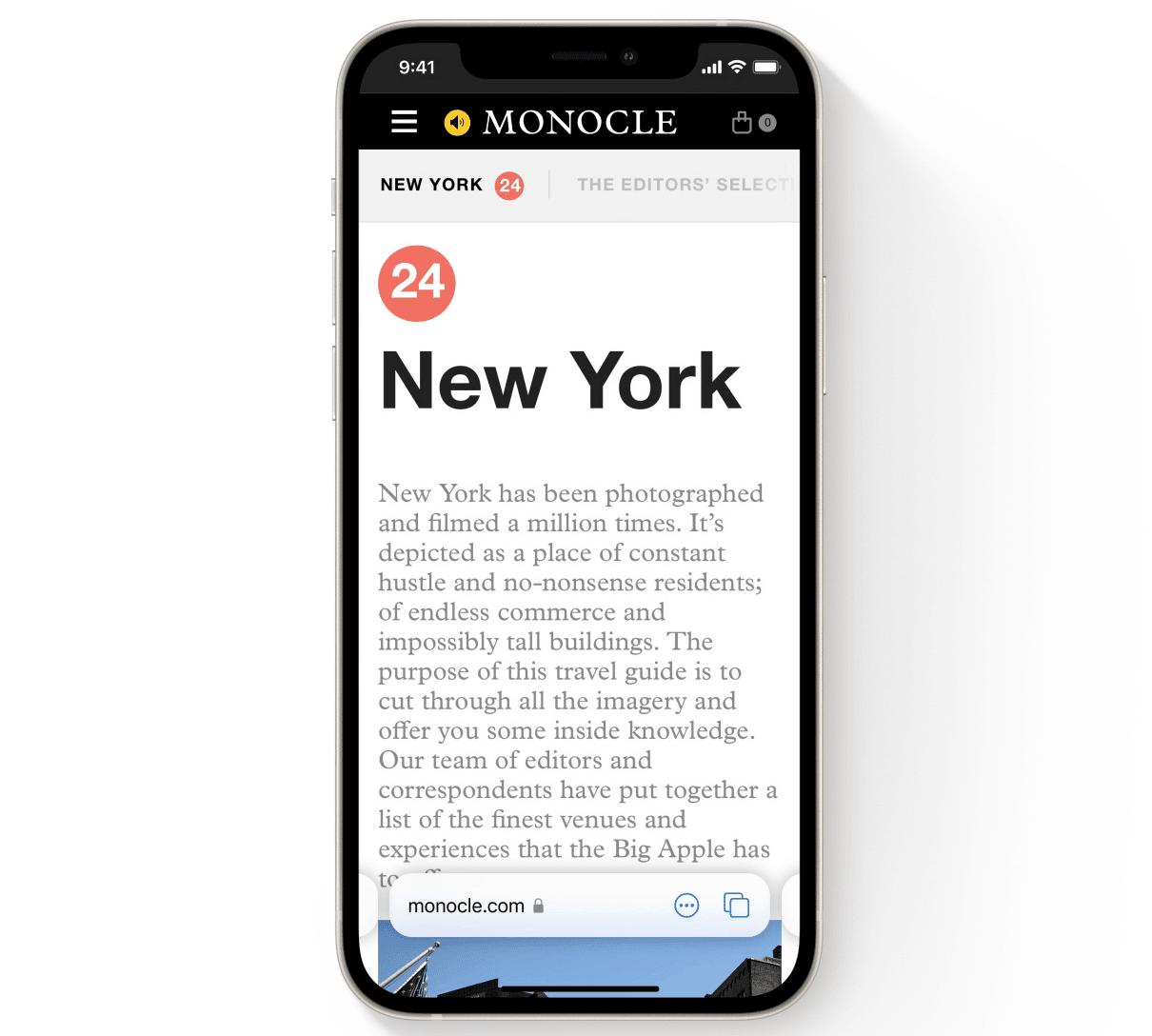 Safari iOS Design