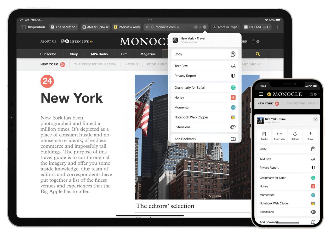 Safari iOS Erweiterungen