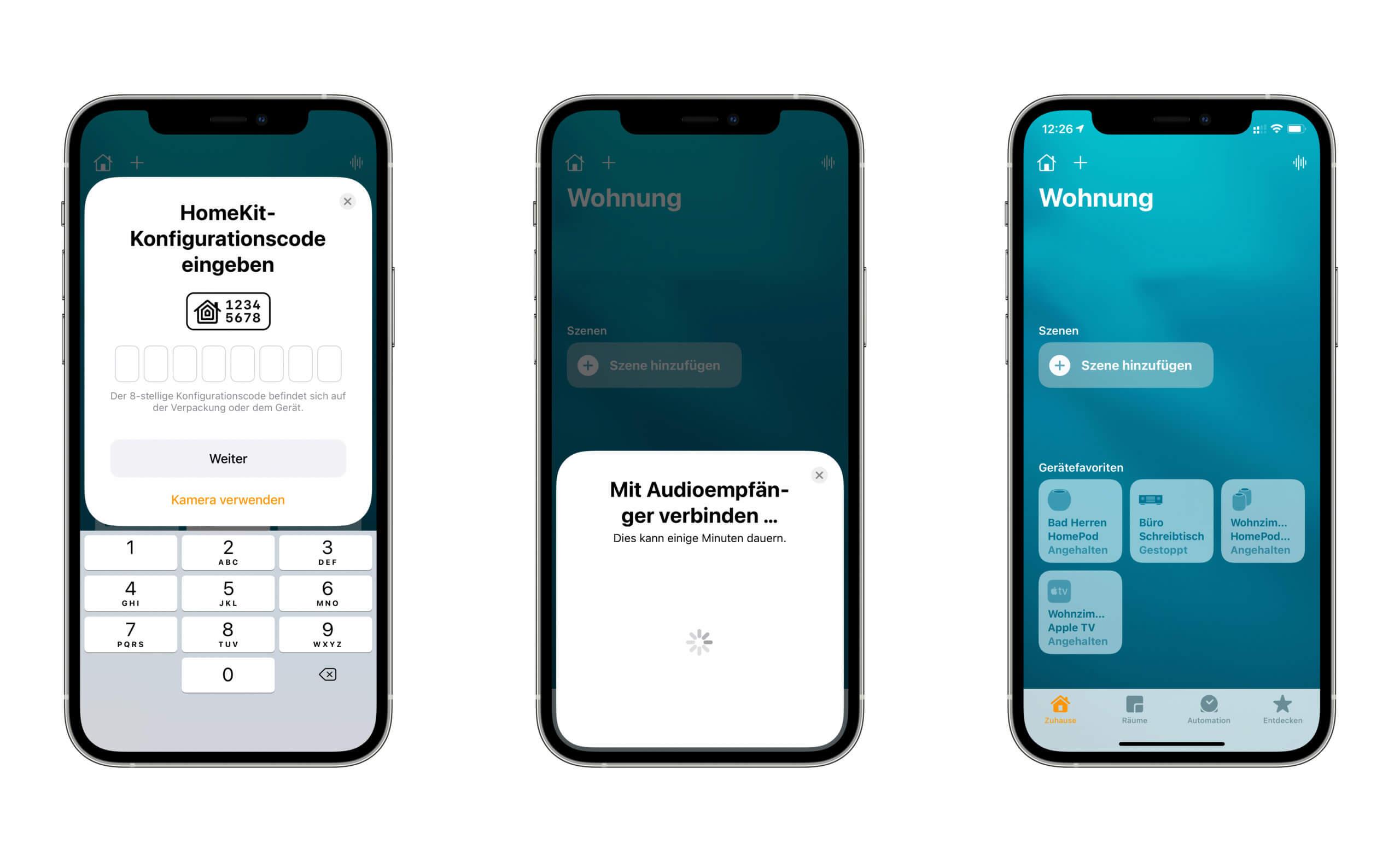 Über die Home-App läuft die Einrichtung reibungslos ab, zumindest solange man sich nicht auf die NFC-Schnittstelle verlässt.