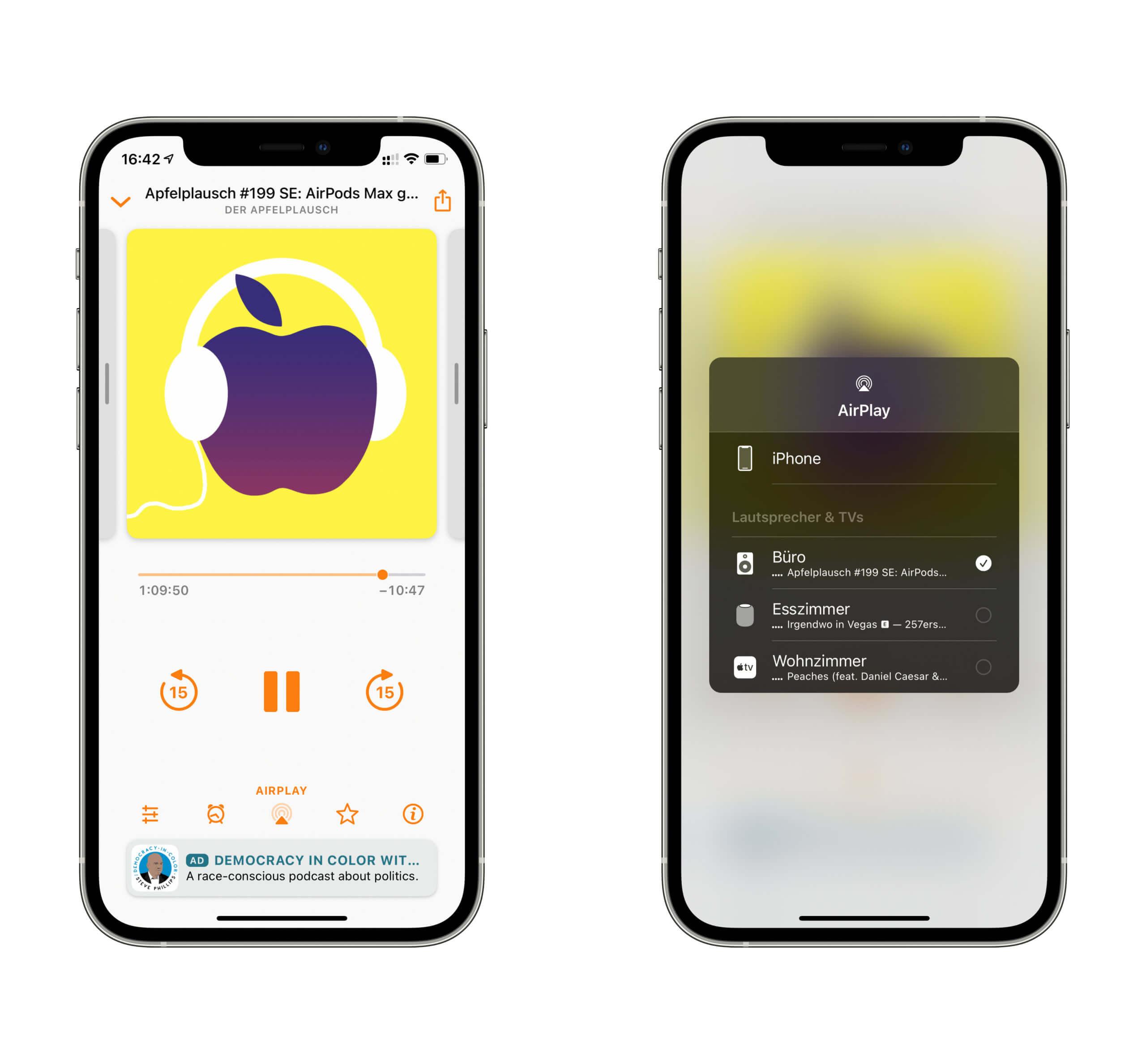 Der Soundform Connect bindet sich nahtlos in die Liste eurer AirPlay-Speaker ein.