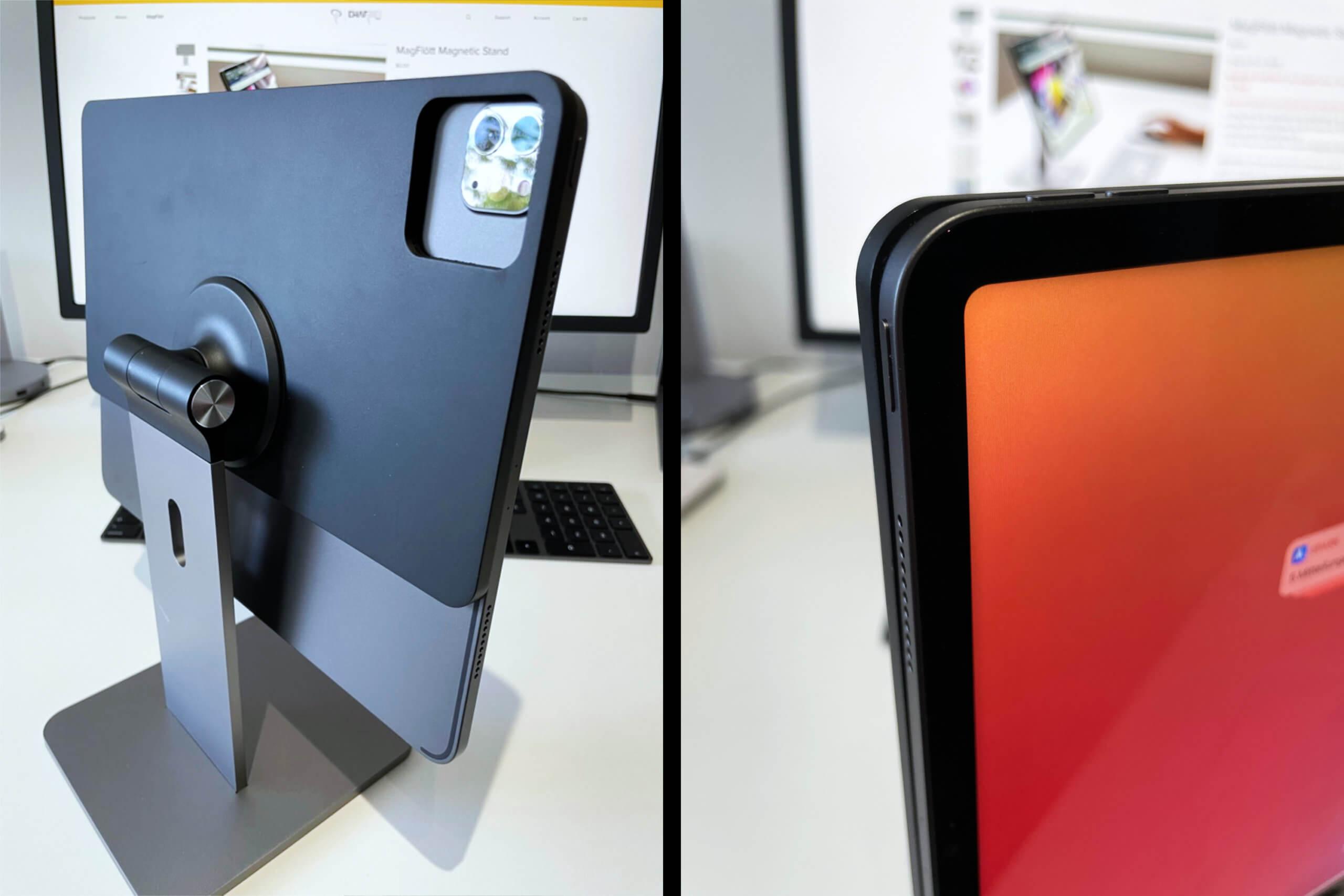 Das Kameraloch und die Maße der Magnetplatte helfen beim Anbringen.