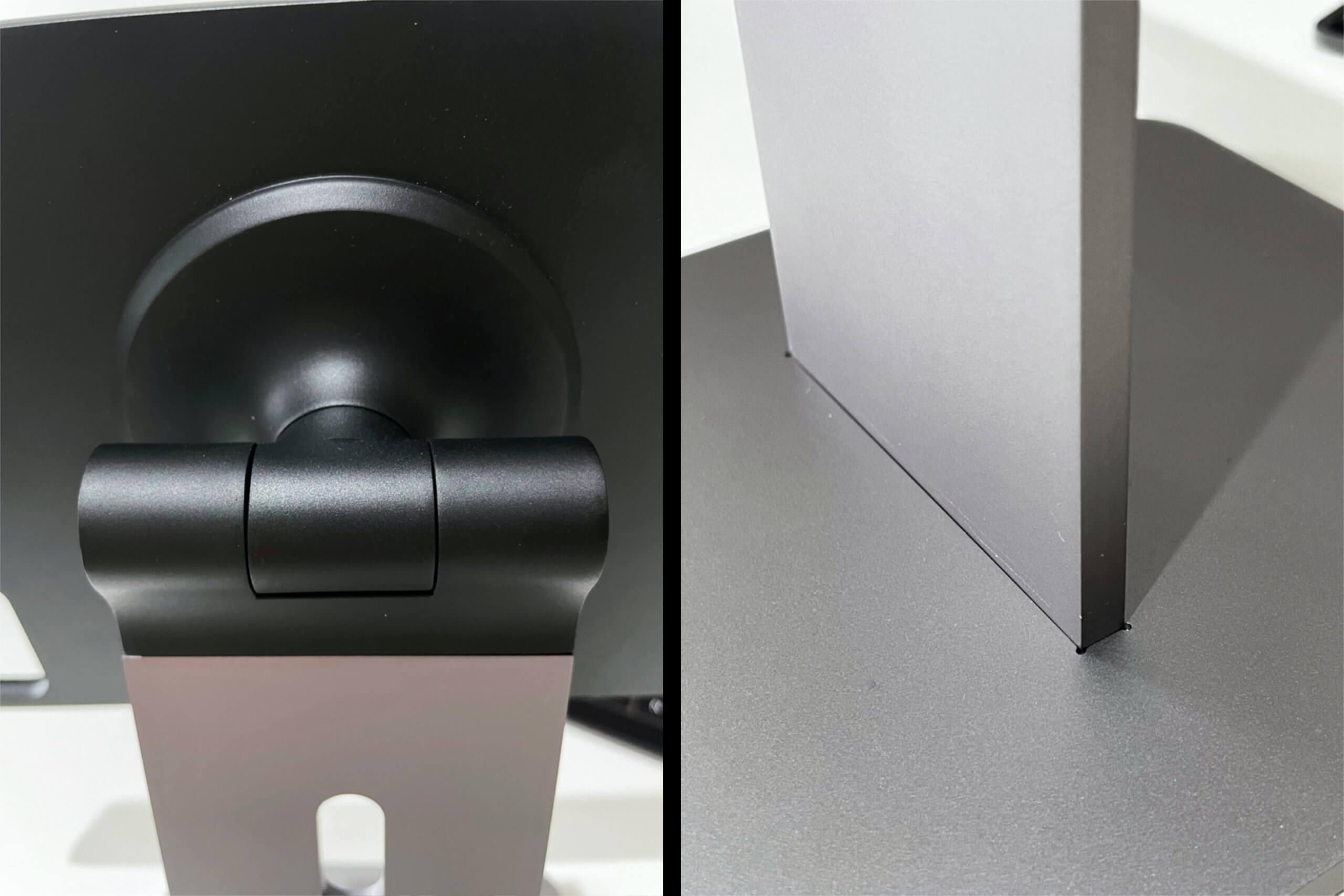Die Konstruktion ist minimalistisch, dadurch jedoch recht wackelig. Die Ausfräsung der Bodenplatte ist auch nach dem Aufbauen sichtbar.