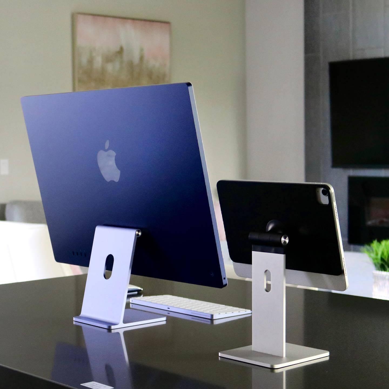 Das Setup aus iMac 2021 und MagFlött passt recht gut zusammen.
