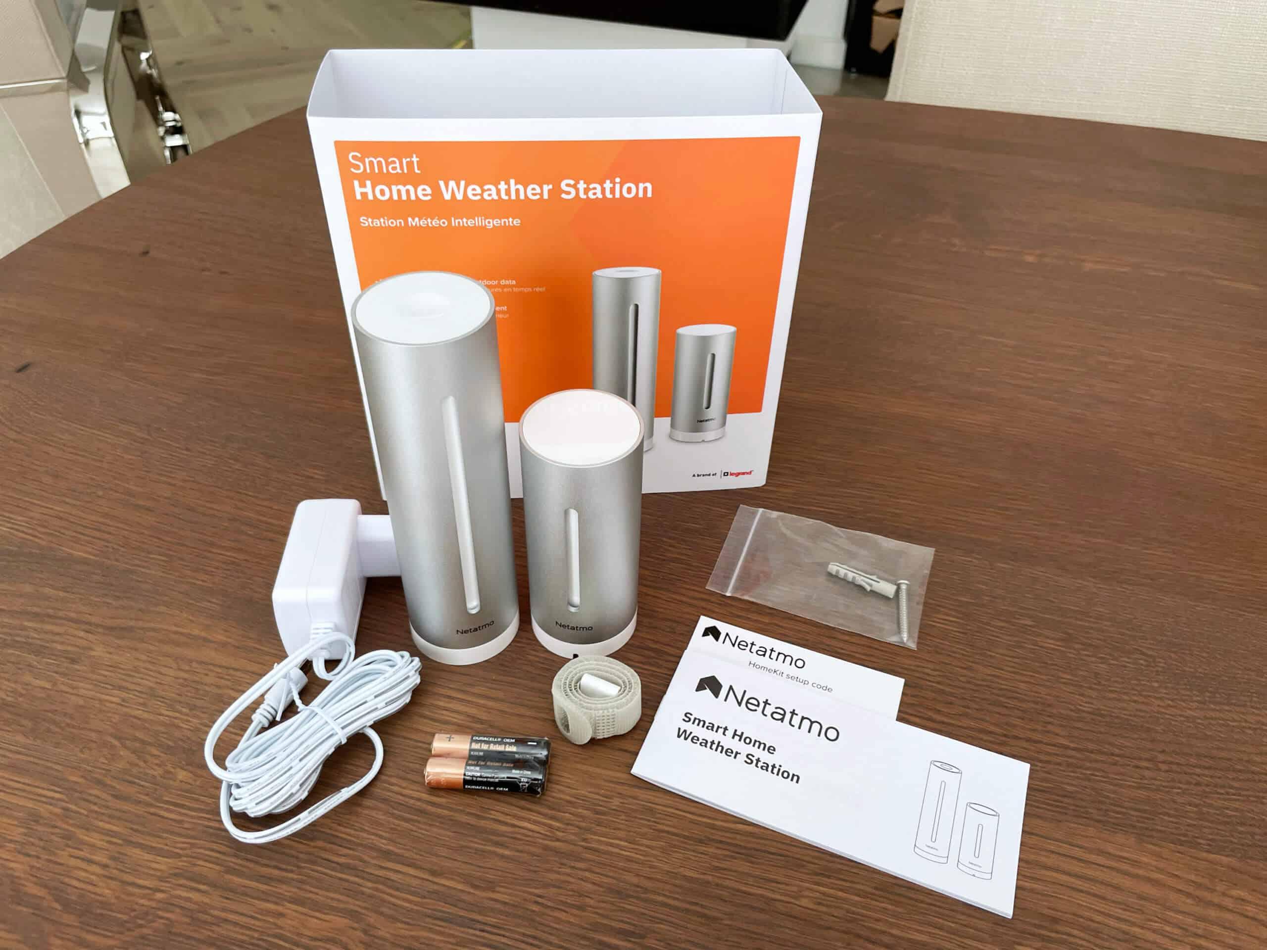 Das klassische Starter-Kit der Netatmo Wetterstation besteht aus einem Außenmodul und einem Innenmodul, welches gleichzeitig als Bridge fungiert.
