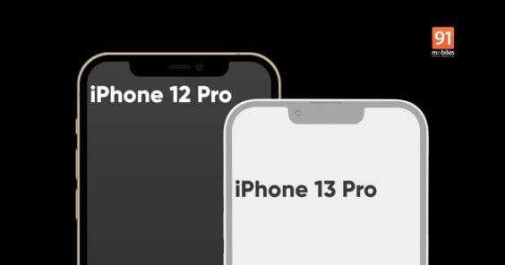 iPhone 13 Notch kleiner - 91Mobiles