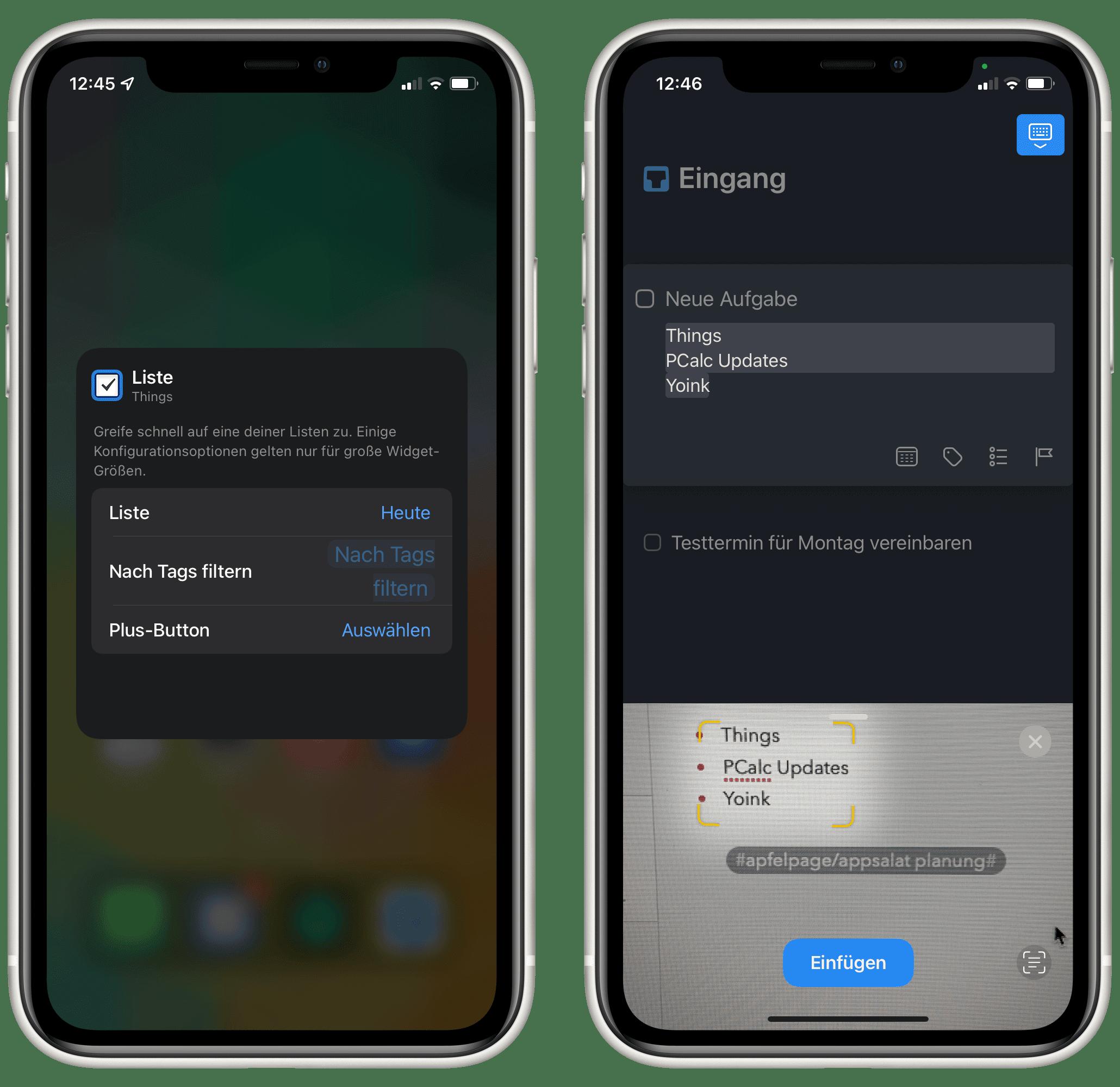 Apfelpage » AppSalat Things 20, PCalc und Yoink nutzen neue iOS 20 ...