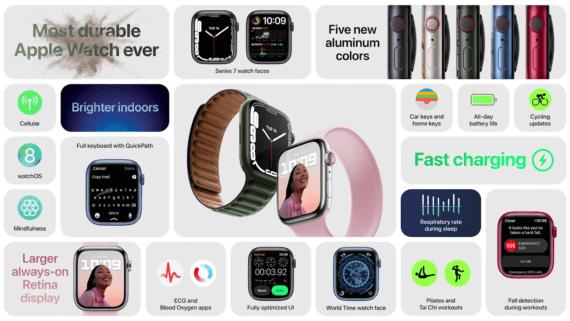 Apple Watch Series 7 - neue Features - Quelle: Apple